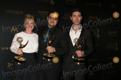 Photo - Mary Beth Evans Gregori J Martin Kristos Andrewsat the 43rd Daytime Emmy Creative Awards Press Room Westin Bonaventure Hotel Los Angeles CA 04-29-16