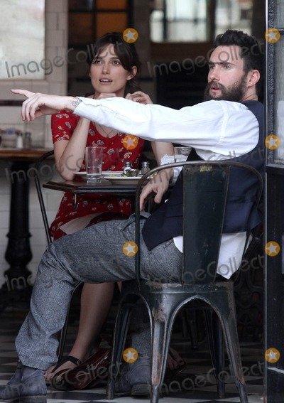 Adam Levine,Keira Knightley,THE SET Photo - Can A Song Save Your Life Set