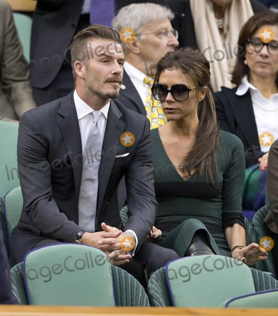 Victoria Beckham,David Beckham Photo - Celebs at Wimbledon
