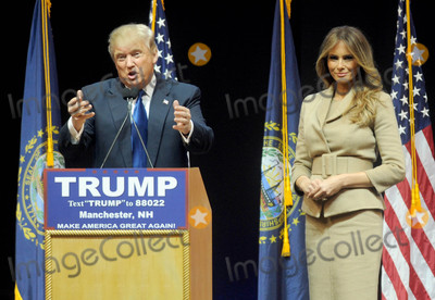 Photo - Photo by Dennis Van TinestarmaxinccomSTAR MAX2016ALL RIGHTS RESERVEDTelephoneFax (212) 995-11962816Donald Trump with Melania Knauss campaigns in Manchester New Hampshire