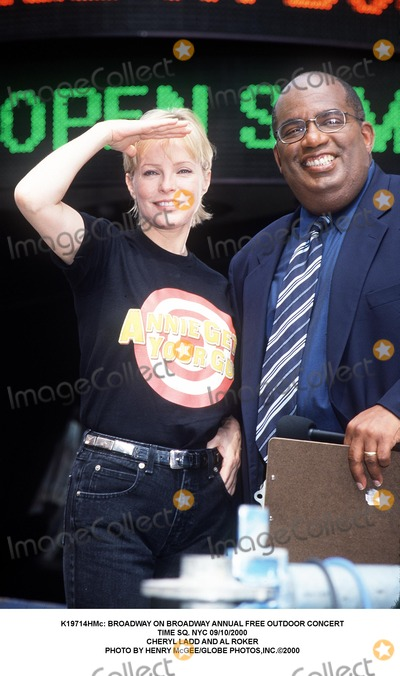 Cheryl Ladd Photo -  Broadway on Broadway Annual Free Outdoor Concert Time Sq NYC 09102000 Cheryl Ladd and AL Roker Photo by Henry McgeeGlobe Photosinc