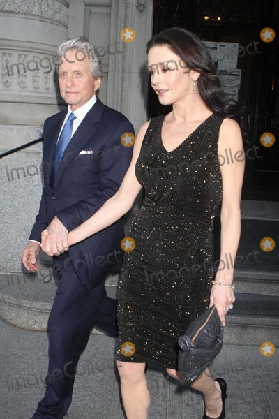 Michael Douglas,Catherine Zeta-Jones Photos - Michael Douglascatherine Zeta Jones Leaving Thier Apartment 4-16-2012 Photo by John BarrettGlobe Photos