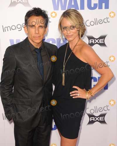 Ben Stiller,Christine Taylor Photo - The Los Angeles Premiere of the Watch