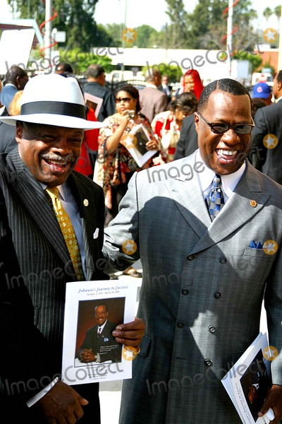 Berry Gordy,Johnnie Cochran Photo - Funeral of Johnnie L Cochran Jr