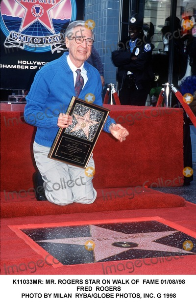 Mr Rogers Photo -  Mr Rogers Star on Walk of Fame 010898 Fred Rogers Photo by Milan RybaGlobe Photos Inc G