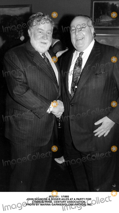 Roger Ailes Photo -  11993 John Scanlon  Roger Ailes at a Party For Charlie Rose Century Association Photo by Marina GarnierGlobe Photos Inc