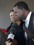 Kasim Reed Photo - July 6 2011 - Atlanta GA - Atlanta Mayor Kasim Reed answers questions from the media about the Atlanta Public Schools cheating scandal Photo credit Dan HarrAdMedia
