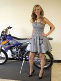 Sarah Darling Photo - August 7 2011 - Nashville TN - Sarah Darling with a motorcycle that was auctioned off for the charity A concert was held on day 2 of the Craig Morgan Charity Weekend to raise money for Billys Place a home for temporarily displaced children Backstage and Misc onstage photos from the event Photo credit Dan HarrAdMedia