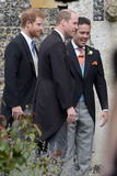 Prince William Photo - 20 May 2017 - Prince William Duke of Cambridge and Prince Harry with the best man Spencer Matthews at the wedding of James Matthews and Pippa Middleton at St Marks Church Englefield Berkshire UK Photo Credit ALPRAdMedia