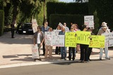 Jason Thomas Photo - Jason Thomas Gordon Jesse Kove Lorre Crimi Mouner Kasem Kerri Kasem Wafa Kanan Eilene Olsen Charles Olsenat a protest involving Casey Kasems children brother and friends who want to see him but have been denied any contact  Private Location Holmby Hills CA 10-01-13