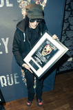 Motley Crue Photo - Photo by KGC-243starmaxinccomSTAR MAXCopyright 2015ALL RIGHTS RESERVEDTelephoneFax (212) 995-119611615EXCLUSIVEMick Mars backstage at the SSE Arena Wembley accepting an award plaque for Motley Crues sold out show(London England UK)ExclusiveUS syndication only