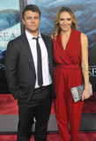 LUKE HEMSWORTH Photo - Photo by Patricia SchleinstarmaxinccomSTAR MAX2015ALL RIGHTS RESERVEDTelephoneFax (212) 995-119612715Luke Hemsworth and wife at the premiere of The Heart of The Sea(NYC)