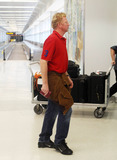 Adored Photo - Boris Becker makes his way through Miami International Airport with his adorable blonde son Amadeus now 18 months old and his wife Sharlely The family are in town to help celebrate Elias Beckers 12th birthday tomorrow Boris who is also planning a trip to New York for the US open appeared to be limping as the family strolled through the terminal Miami FL September 3rd 2011  Local Caption