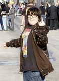 Andy Milonakis Photo - Actor and comedian Andy Milonakis gives the middle finger outside the Jimmy Kimmel Live studios Los Angeles CA 42011