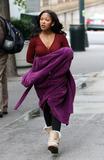 Meagan Good Photo - November 8 2012 New York CityActress Meagan Good was on the set of the TV show Infamous on November 8 2012 in New York City