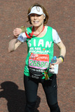 Sian Phillips Photo - Sian Phillips finishes the 2013 London Marathon on The Mall London 22042013 Picture by Steve Vas  Featureflash