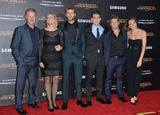 LUKE HEMSWORTH Photo - Actors Liam Hemsworth (3rd from left) Luke Hemsworth (2nd from right)  parents  family at the Los Angeles premiere of  Liams movie The Hunger Games Mockingjay - Part 2 at the Microsoft Theatre LA Live November 16 2015  Los Angeles CAPicture Paul Smith  Featureflash