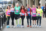 Andrew Strauss Photo - Amanda Mealing Kelly Sotherton Iwan Thomas Amy Childs Andrew Strauss James Toseland Mike Bushell at the Virgin London Marathon - Celebrities photocallLondon 17042013 Picture by Henry Harris  Featureflash