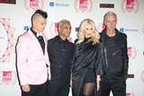 Adrian Young Photo - Musicians Adrian Young (l-r) Tony Kanal Gwen Stefani and Tom Dumont of No Doubt Arrive For the Mtv Europe Music Awards (Ema) at Festhalle in Frankfurt Germany on 11 November 2012 the Music Tv Channels Award Ceremony Is in Its 19th Year and Recognizes Talent on the European Music Scene Photo Alec Michael