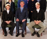 Lady Sarah Chatto Photo - ALPHA M040043 19032000Picture shows left to right Prince Harry the Prince of Wales and Prince William during the Confirmation of Prince Harry at Eton Sunday 19 March 2000The 15-year-old Prince was confirmed at the school chapel along with around 30 other pupils four of whom were from the same house - Manor HouseThe hour long service was attended by five of the Princes godparents Lady Sarah Chatto Lady Cece Vestey Bryan Organ Carolyn Bartholomew and Gerald WardCREDIT ALPHAGLOBE PHOTOS INC