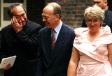 Gary Lewis Photo - Witi Ihimaera (left) the author of Whale Rider chats to guests after the wedding of Lady Davina Windsor and Gary Lewis outside the chapel at Kensington Palace London on Saturday July 31 2004 The 26-year- old who is 20th in line to the throne wed 33-year-old Maori renovator a former sheep shearer from Gisbourne New Zealand07312004ALPHAGLOBE PHOTOSINCA15207