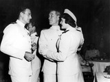 Patricia Neal Photo - Patricia Neal with John Wayne and Ward Bond in Operation Pacific 30030 Photo by Globe Photos Inc Patricianealretro