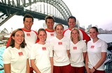 Ian Thorpe Photo - DAVE  MORGANALPHA 046933 28022002 SYDNEY AUSTRALIATHE AUSTRALIAN SYNCHRONISED SWIMMING TEAM WITH GRANT HACKETT  IAN THORPE AND KIEREN PERKINS AT NORTH SYDNEY OLYMPIC POOL-OLYMPIC CHAMPIONS SWIMMERS IAN THORPE GRANT HACKET  KIEREN PERKINS DONNED NOSE PAGS AND JOINED MEMBERS OF THE AUSTRALIAN SYNCHRONSED SWIMMING SQUAD IN SYDNEY TO LAUNCH UNCLE TOBYS NEW EDGE FOR LIFE CAMPAIGNCREDIT DAVE MORGANALPHAGLOBE PHOTOS INC