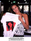 David Jones Photo - Dave Morgan_alpha M045117 23082001 Megan Gale and Her Exclusively Designed 65 Limited Edition (100 Only) T Shirt at the David Jones Store in Sydney Australia Credit Dave MorganalphaGlobe Photos Inc