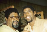 Rosey Grier Photo - Rosey Grier with Earvin Magic Johnson L2660 Photo by Bob V Noble-Globe Photos Inc