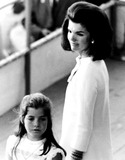 Jacqueline Kennedy Onassis Photo - Jacqueline Kennedy Onassis and Daughter Caroline Kennedy at the Dedication of Aircraft Carrier Kennedy AbjGlobe Photos Inc Jacquelinekennedyonassisobit
