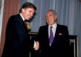 Anthony Quinn Photo - Donald Trump and Anthony Quinn Photo Byjohn BarrettGlobe Photos Inc 1989 Dtrumpmn