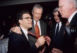 Al Franken Photo - Orrin Hatch with Al Franken Kerry Mccluggage Patrick Leahy at Lateline Screening of New Tv Show  National Press Club Washington DC 1998 K11609jkel Photo by James M Kelly-Globe Photos Inc