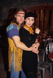 Anna Stuart Photo - Anna Stuart with Matt Crane at Halloween Party Shoot 1993 L6682eg Photo by Ed Geller-Globe Photos Inc