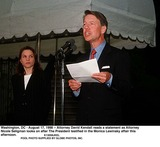 Monica Lewinsky Photo - Washington DC - August 17 1998 -- Attorney David Kendall Reads a Statement As Attorney Nicole Seligman Looks on After the President Testified in the Monica Lewinsky Affair This Afternoon Credit Ron Sachs-cnp  Pool Supplied by JkelGlobe Photos Inc