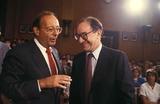 Al DAmato Photo - Alan Greenspan with AL Damato 7-21-1987 14594 Photo by James Colburn-ipol-Globe Photos Inc