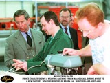 Prince Photo - 060499 the Prince of Wales Is Shown a Weaving Machine by Hunters Employee Ken Macdougall at the New Weaving Factory Hunters of Brora Ltd in Sutherlandscotland AlphaGlobe Photos Inc