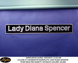 Lady Diana Photo - 130499 a Class 47 Locomotive Nameplate Lady Diana Spencer to Be Sold For Charity Estimate 20000-30000 AlphaGlobe Photos Inc