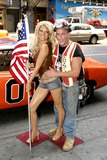 GENERAL LEE Photo - K44382AGM05 August 2005 - New York NY - Jessica Simpson wax figure (Madame Tussauds-NY) and General Lee famed 1969 Orange Dodge Charger on display at Madame Tussauds-42nd Street  Event coincides with opening of Duke of Hazzard movie promotion  Photo Credit  Anthony G MooreGLOBE PHOTOS 2005