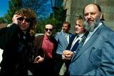 John Bonham Photo - Robert Plant John Paul Jones and John Bonham of Led Zeppelin Photo by AllanalphaGlobe Photos Inc Ledzeppelinretro