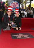 Audrey Geisel Photo - JOHNNY GRANT AND AUDREY GEISEL THE WIFE OF AUTHOR DR SEUSS (THEODOR GEISEL) POSED AS HE WAS HONORED WITH THE 2249TH STAR -DR SEUSS HONORED WITH STAR ON THE HOLLYWOOD WALK OF FAME -HOLLYWOOD BOULEVARD HOLLYWOOD CA -03112004 -PHOTO BY NINA PROMMERGLOBE PHOTOS INC2004K36070NP