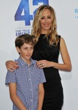 Kim Raver Photo - Kim Raver Son attending the Los Angeles Premiere of Warner Bros Pictures and Legendary Pictures 42 Held at the Tcl Chinese Theatre in Hollywood California on April 9 2013 Photo by D Long- Globe Photos Inc