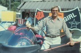 Adam West Photo - Adam West with His Batmobile Car at Chuck Barris Party Supplied by Globe Photos Inc