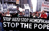 John Paul Photo - New York Now Demonstration in NYC During the Pope John Paul Iis Visit Photovillalon  Ipol  Globe Photos Inc