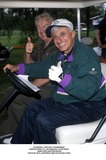 Jamie Farr Photo -  Lapd Golf Tournament Rancho Park Cc Los Angeles CA 05192001 Jamie Farr and Ron Masak Photo by Paul SkipperGlobe Photosinc