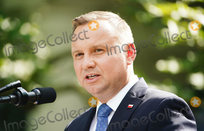 Photo - US President Donald J Trump (not pictured) and Polish President Andrzej Duda hold a joint press conference in the Rose Garden of the White House in Washington DC USA 24 June 2020 Duda a conservative nationalist facing a tight re-election race back home is the first foreign leader to visit the White House in more than three monthsCredit Jim LoScalzo  Pool via CNPAdMedia