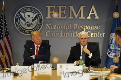 Photos From President Donald Trump and Vice President Mike Pence visit the Federal Emergency Management Agency headquarters