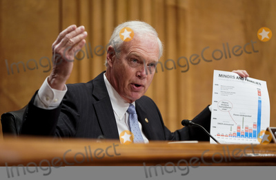 Photo - United States Senator Ron Johnson (Republican of Wisconsin) Chairman US Senate Committee on Homeland Security and Government Affairs speaks during a Senate Homeland Security and Governmental affairs hearing on Alejandro Mayorkas nomination to be secretary of Department of Homeland Security (DHS) on Capitol Hill in Washington US January 19 2021 Credit Joshua Roberts - Pool via CNPAdMedia