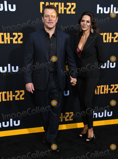 Luciana Barroso Photo - 07 May 2019 - Hollywood California - Matt Damon Luciana Barroso Hulus Catch 22 Los Angeles Premiere held at PTCL Chinese Theatre Photo Credit Birdie ThompsonAdMedia