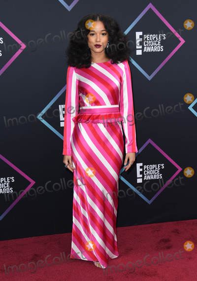 Alisha Wainwright Photo - 11 November 2018 - Santa Monica California - Alisha Wainwright 2018 E Peoples Choice Awards - Arrivals held at Barker Hangar Photo Credit Birdie ThompsonAdMedia