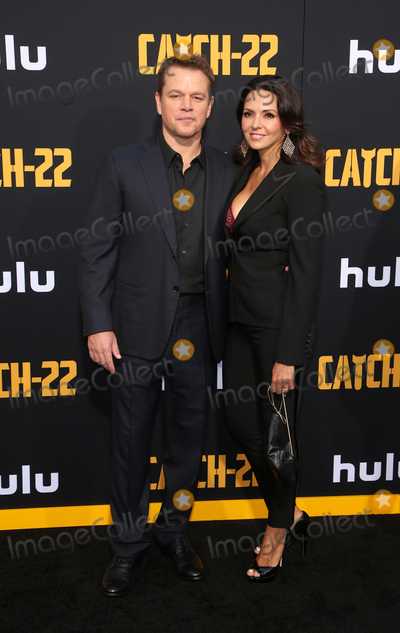 Luciana Barroso Photo - 07 May 2019 - Hollywood California - Matt Damon Luciana Barroso US Premiere Of Hulus Catch-22 held at TCL Chinese Theatre IMAX Photo Credit Faye SadouAdMedia